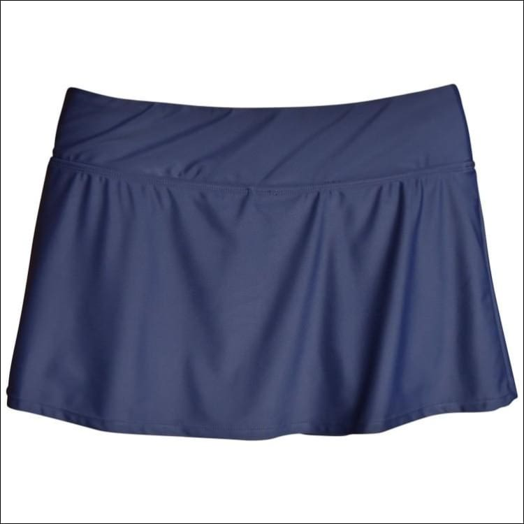 Heat Womens Plus Size Skirtini Swim Skirt Swimsuit Bottoms 18W 20W 22W 24W - 18W / Navy - Womens