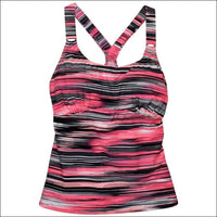 Heat Womens Racer Back Tankini Swimsuit Top S-XL - Small / Coral - Womens