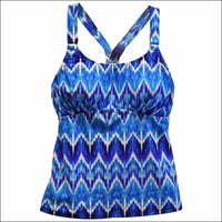 Heat Womens Racer Back Tankini Swimsuit Top S-XL - Small / Rhythm and Blues - Womens