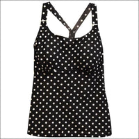 Heat Womens Racer Back Tankini Swimsuit Top S-XL - Small / Spot Me - Womens