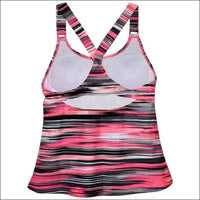 Heat Womens Racer Back Tankini Swimsuit Top S-XL - Womens