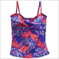 Heat Womens Twisted Bandeau Tankini Swimsuit Top S-XL - Small / Sunny Palms - Womens