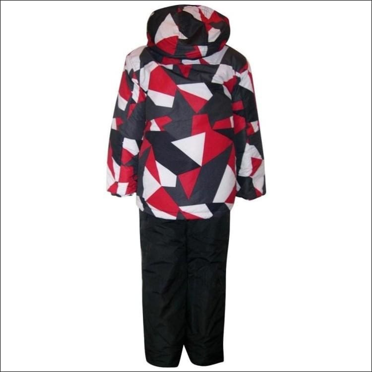 Little Boys and Toddler Pulse 2 Piece Snowsuit Ski Jacket and Ski bibs Red Maze 2T-7 - Kids