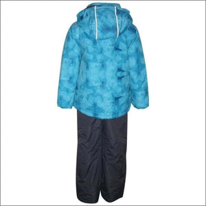 Little Boys and Toddler Pulse 2 Piece Snowsuit Ski Jacket and Snow Pants Edge Blue 2T-7 - Kids
