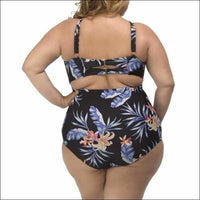 Lysa Womens Plus Size Kylie Keyhole Floral One Piece Swimsuit 0X 2X 3X - Swimsuits
