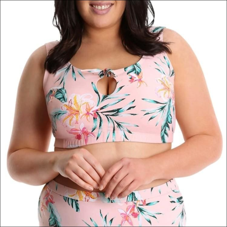 Lysa Womens Plus Size Renee Floral Bikini Swimsuit 2pc Set 0X 1X 2X 3X - Swimsuits