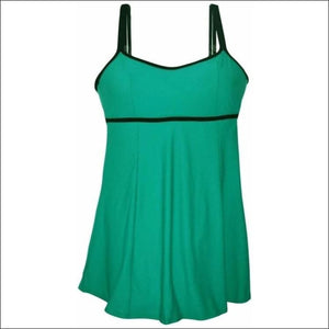 NWSC Womens Empire Swimdress Swimsuit 10-16 - 10 / Jade - Womens