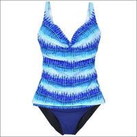 Profile By Gottex Womens Swimsuit Tankini Bikini D Cup 2 Piece Set - 32D / 6 / Blue Multi - Swimsuits