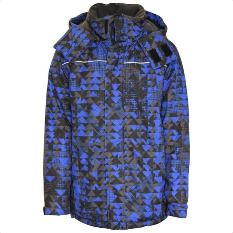 Pulse Big Boys Youth Insulated Edge Mountain Ski Jacket Small 8/10 - Small (8/10) / Blue Mt - Kids