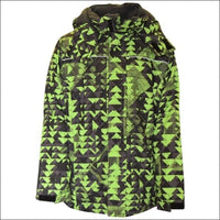 Pulse Big Boys Youth Insulated Edge Mountain Ski Jacket Small 8/10 - Small (8/10) / Lime Mt - Kids