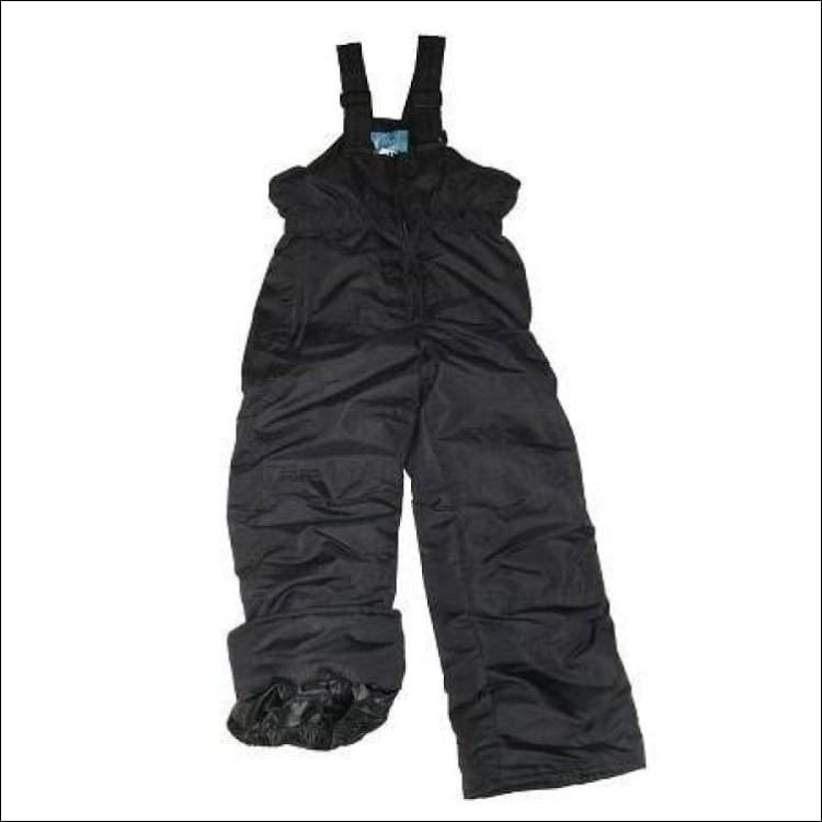 Pulse Boys Ski Snow Bibs Pants Insulated Black 4-7 - Small (4/5) / Black - Kids