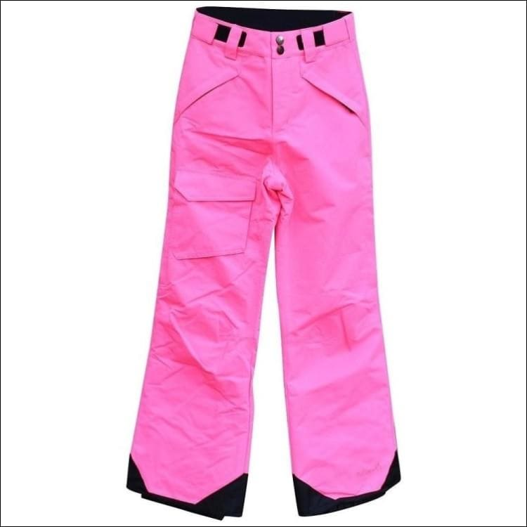 Pulse Girls Big Youth Insulated Ski Pants Snow Pants 7-16 - S (7/8) / Pink - Kids
