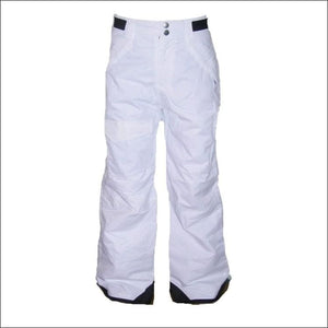 Pulse Girls Big Youth Insulated Ski Pants Snow Pants 7-16 - S (7/8) / White - Kids