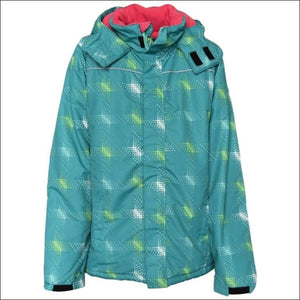 Pulse Girls Big Youth Stars Ski Jacket Coat Insulated M - XL - Large (16/18) / Teal Stars - Kids
