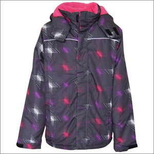 Pulse Girls Big Youth Stars Ski Jacket Coat Insulated M - XL - Medium (12/14) / Charcoal Stars - Kids