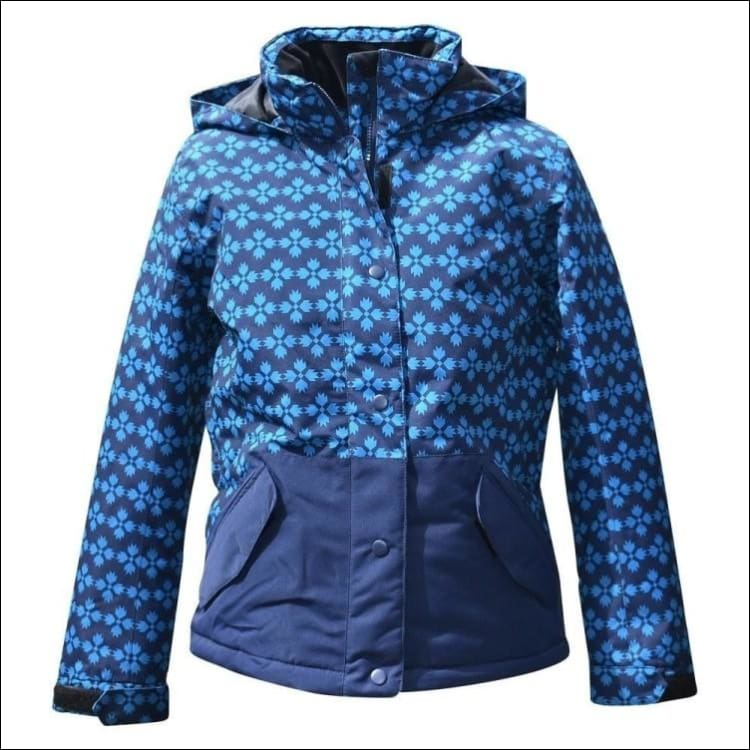 Pulse Girls Youth Ski Snowboard Coat Jacket Insulated Stardust 7-16 - Small (7/8) / Teal Navy - Kids