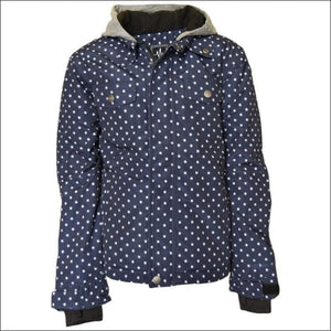 Pulse Girls Youth Teen Insulated Snowboarding Jacket Rhythm Navy Dot S - XL - Kids