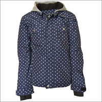 Pulse Girls Youth Teen Insulated Snowboarding Jacket Rhythm Navy Dot S - XL - Medium (10/12) / Navy Dot - Kids
