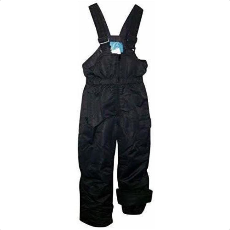 Pulse Little Girls Snow Ski Bibs Insulated and Waterproof 4-7 - Large (7) / Black - Kids