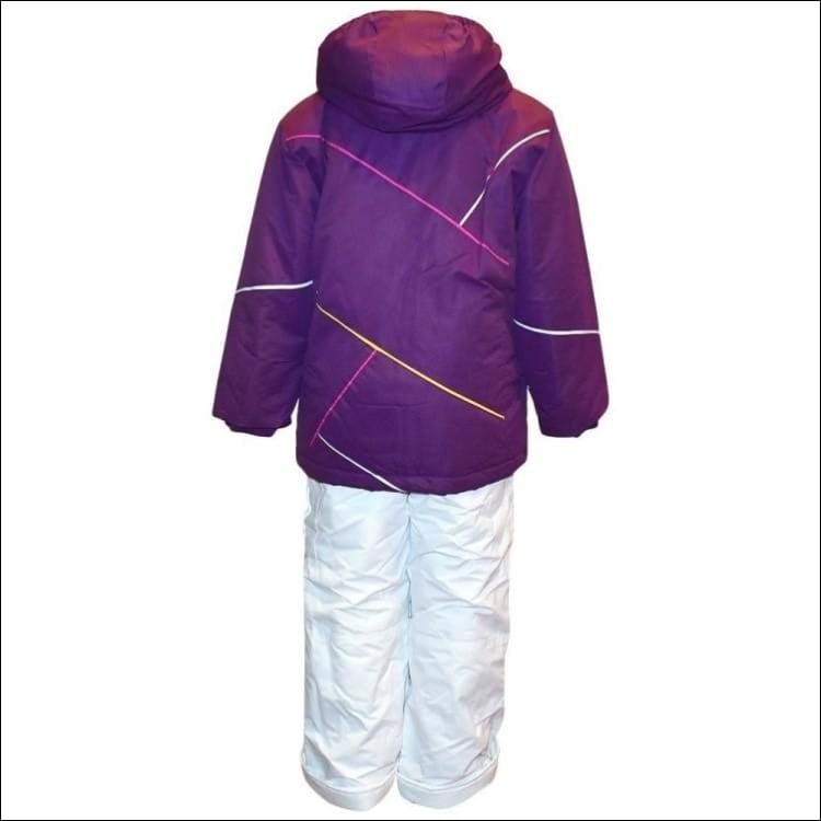 Pulse Little Girls Snowsuit Ski Jacket Snow Bibs 4-7 Purple - Kids
