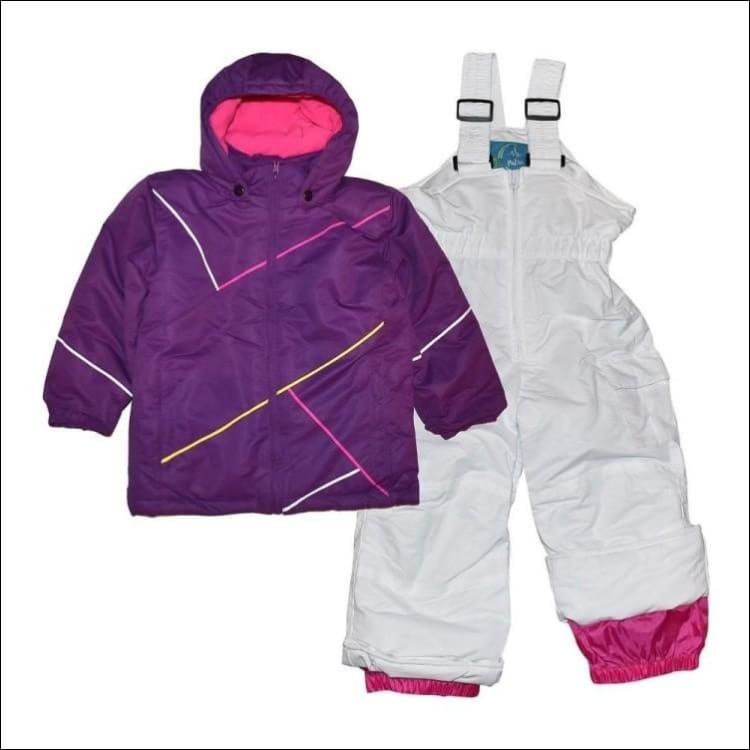 Pulse Little Girls Snowsuit Ski Jacket Snow Bibs 4-7 Purple - Small (4/5) / Purple - Kids