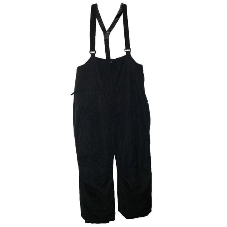 Pulse Mens Big Sizes Insulated Ski Snow Bibs Suspender Pants Black 2XL-6XL - 3XL / Black - Mens