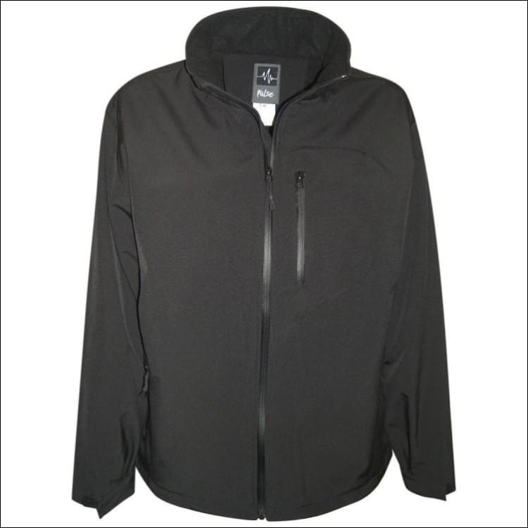 Pulse Mens Big Sizes Micro Fleece Soft Shell 2XL - 6XL - 2XL / Black - Mens