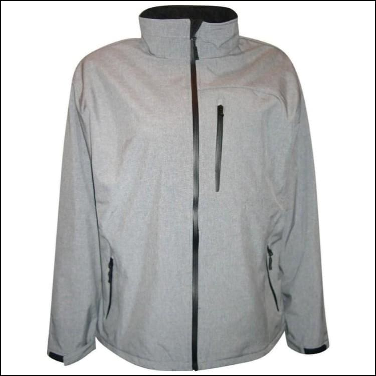 Pulse Mens Big Sizes Micro Fleece Soft Shell 2XL - 6XL - 2XL / Grey - Mens
