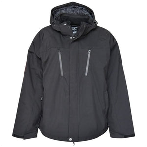 Pulse Mens Big Sizes Siberian II Insulated Soft Shell Jacket 3XL - 6XL - 3XL / Black - Mens