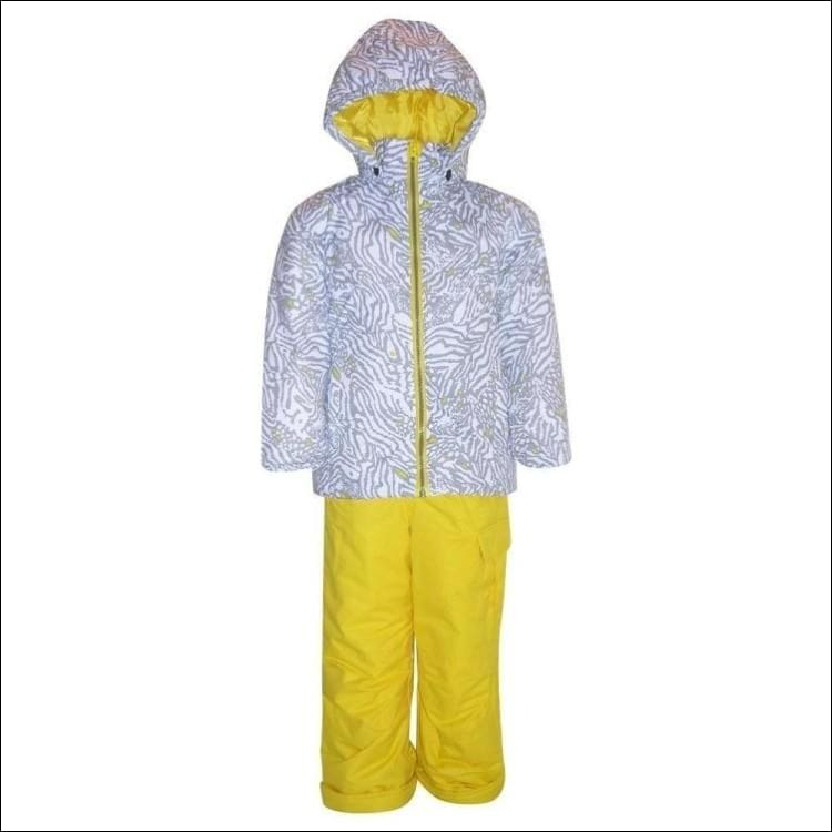 Pulse Toddler and Little Girls Fierce 2 Piece Snowsuit 2T-7 - Small (4/5) / White Fierce - Kids