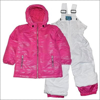 Pulse Toddler and Little Girls Snowsuit Ski Jacket Snow Bibs Glitter Toddler 2T-7 - 2T / Pink - Kids