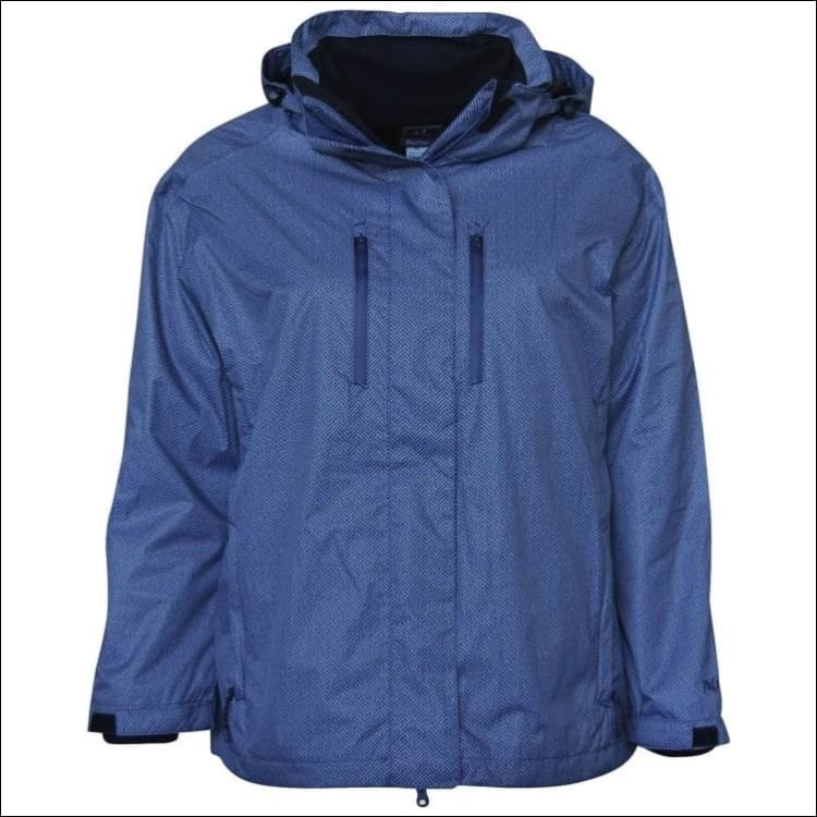 Pulse Womens Plus Size 3in1 Boundary Ski Jacket 1X 2X 3X 4X 5X 6X - 1X / Blue Cobalt - Womens