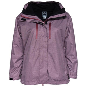 Pulse Womens Plus Size 3in1 Boundary Ski Jacket 1X 2X 3X 4X 5X 6X - 1X / Wine Zig - Womens