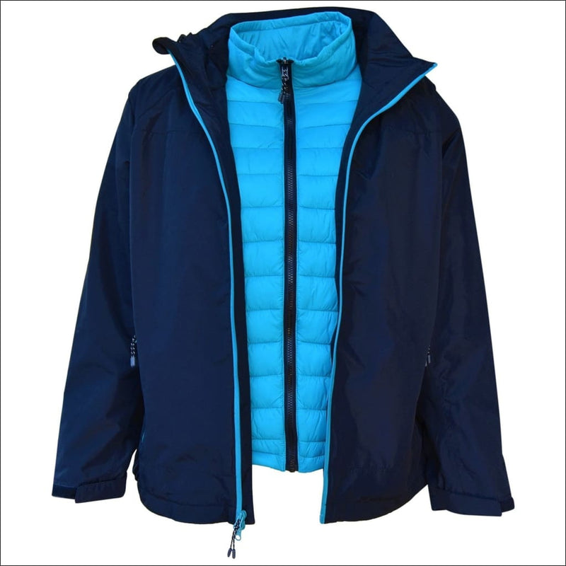 Pulse Womens Plus Size 3in1 Ski Jacket 1X-6X Swiss Systems - 1X / Black Teal - Womens