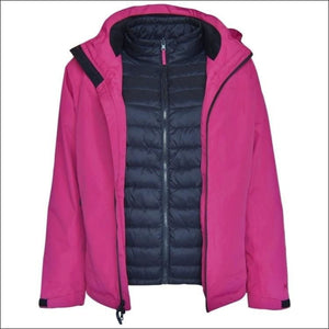 Pulse Womens Plus Size 3in1 Ski Jacket 1X-6X Swiss Systems - 1X / Rose Black - Womens