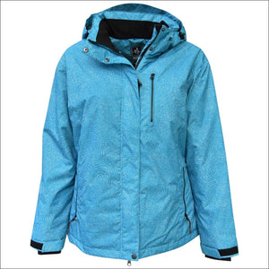 Pulse Womens Plus Size Bevel Insulated Ski Jacket 1X 2X 3X 4X 5X 6X - 1X / Teal Galaxy - Womens