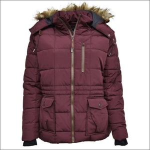 Pulse Womens Plus Size Extended Arrow Down Alt Quilted Parka Anorak Coat 1X 2X 3X - 1X / Arrow Ruby - Womens