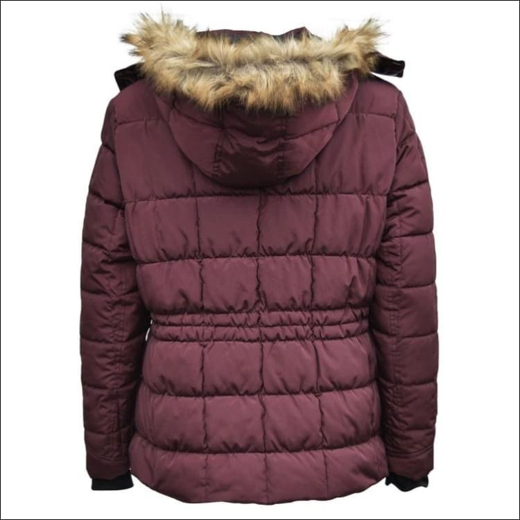 Pulse Womens Plus Size Extended Arrow Down Alt Quilted Parka Anorak Coat 1X 2X 3X - Womens