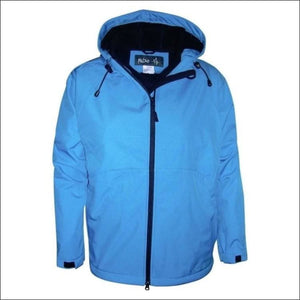 Pulse Womens Plus Size Hooded Soft Shell Jacket 1X 2X 3X - 1X / Blue Embossed - Womens