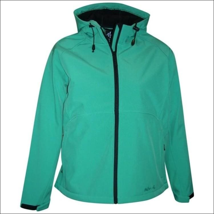 Pulse Womens Plus Size Hooded Soft Shell Jacket 1X 2X 3X - 1X / Emerald - Womens