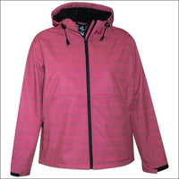 Pulse Womens Plus Size Hooded Soft Shell Jacket 1X 2X 3X - 1X / Juicy Melon Diamond - Womens