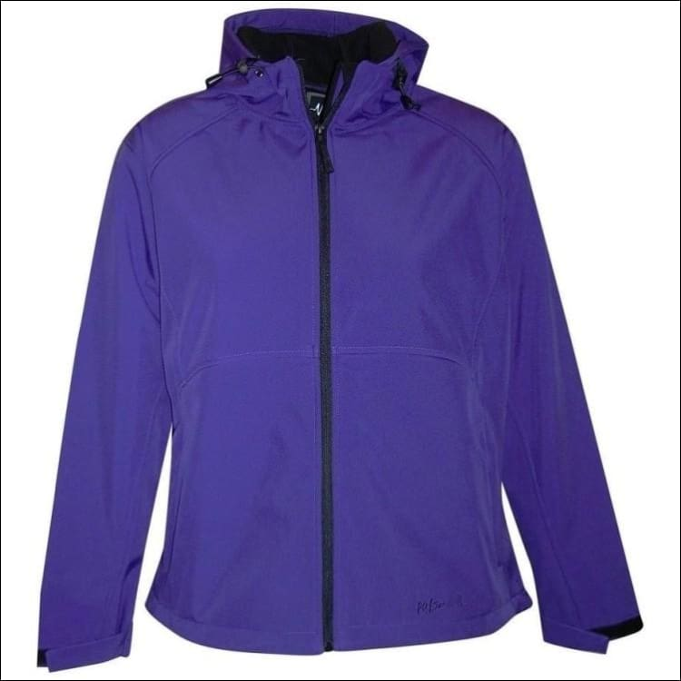 Pulse Womens Plus Size Hooded Soft Shell Jacket 1X 2X 3X - 1X / Purple - Womens