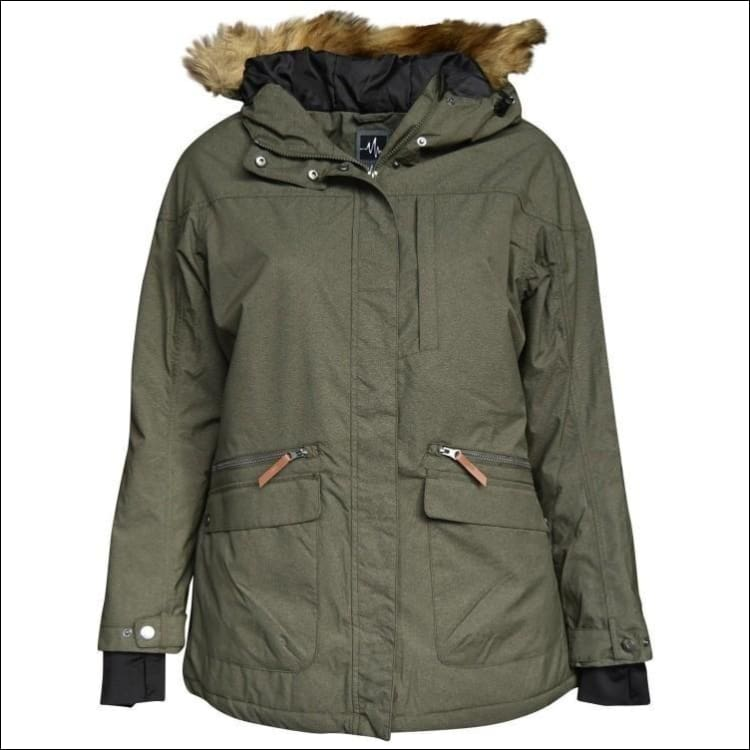 Pulse Womens Plus Size Insulated Parka Societe Coat 1X-6X - 2X / Olive - Womens