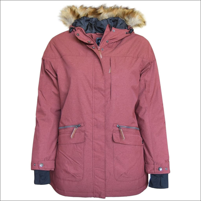 Pulse Womens Plus Size Insulated Parka Societe Coat 1X-6X - 1X / Wine - Womens
