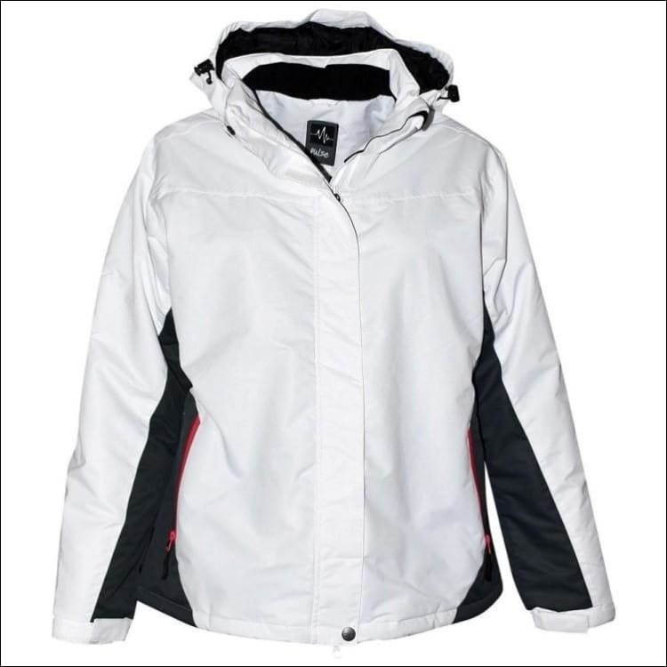 Pulse Womens Plus Size Insulated Rainier Ski Jacket 1X - 1X / White - Womens