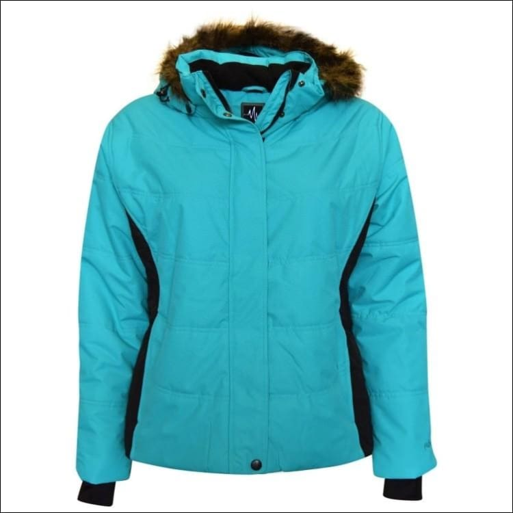 Pulse Womens Plus Size Insulated Ski Jacket 1X 2X 3X 4X 5X 6X Aspens Calling - 1X / Teal Black - Womens
