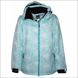 Pulse Womens Plus Size Insulated Ski Jacket 1X Honeycomb - 1X / Aqua Honeycomb - Womens