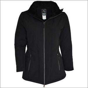 Pulse Womens Plus Size Insulated Soft Shell Jacket Lilya 1X - 1X (16/18) / Black - Womens