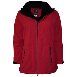 Pulse Womens Plus Size Insulated Soft Shell Jacket Lilya 1X - 1X (16/18) / Red - Womens