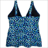 Simply Fit Womens Plus Size Tankini Bikini Swimsuit Set Tiered Ruffle 16-24 - Womens